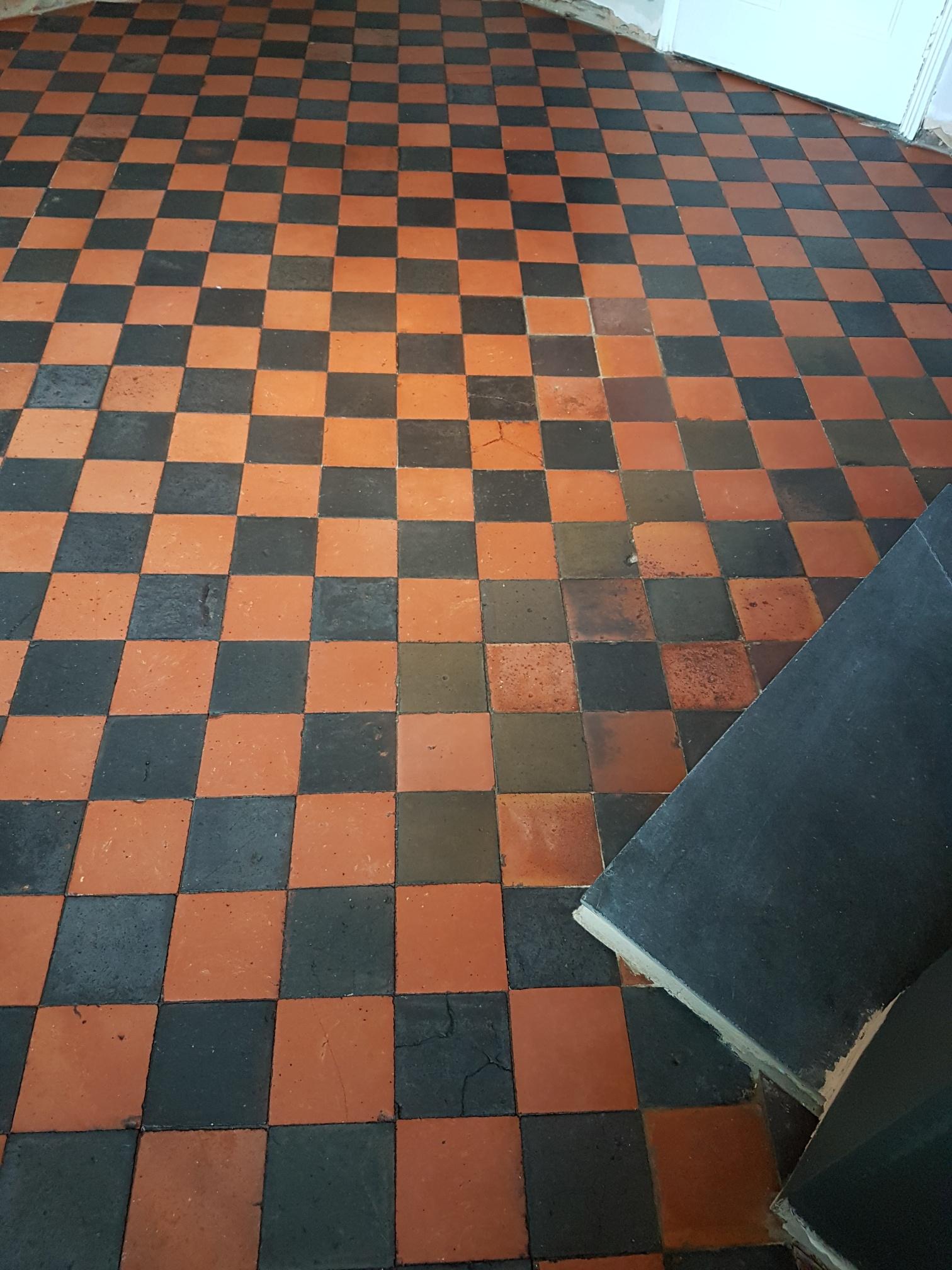 Quarry Tiled Floor After Cleaning Knaresborough