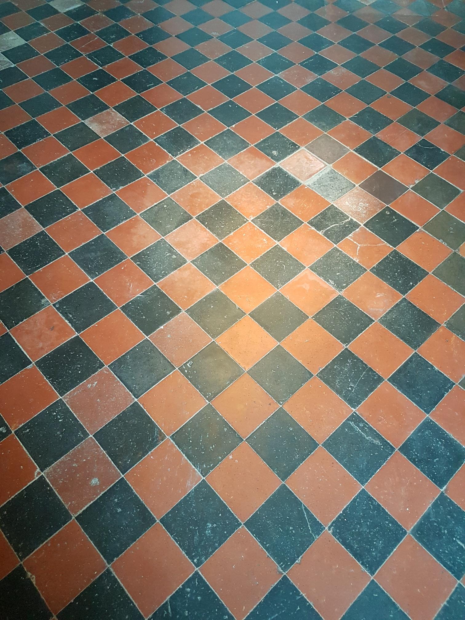 Quarry Tiled Floor Before Cleaning Knaresbrorough