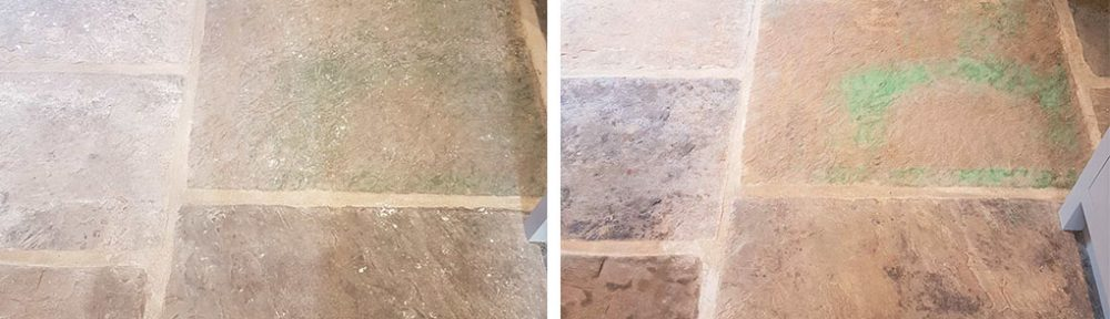 Reclaimed Yorkshire Flagstone Floor Renovation in Harrogate