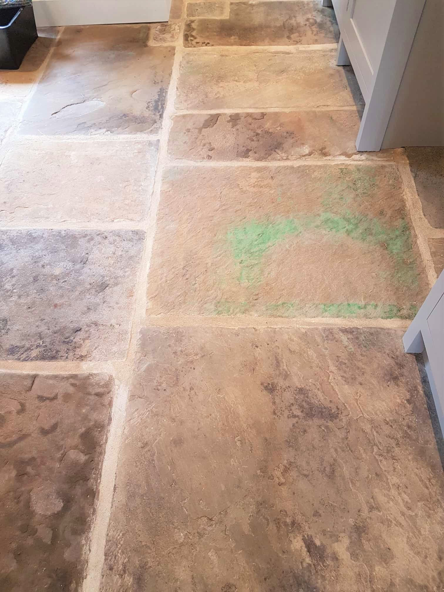 Yorkshire stone flagstone floor after renovation Harrogate