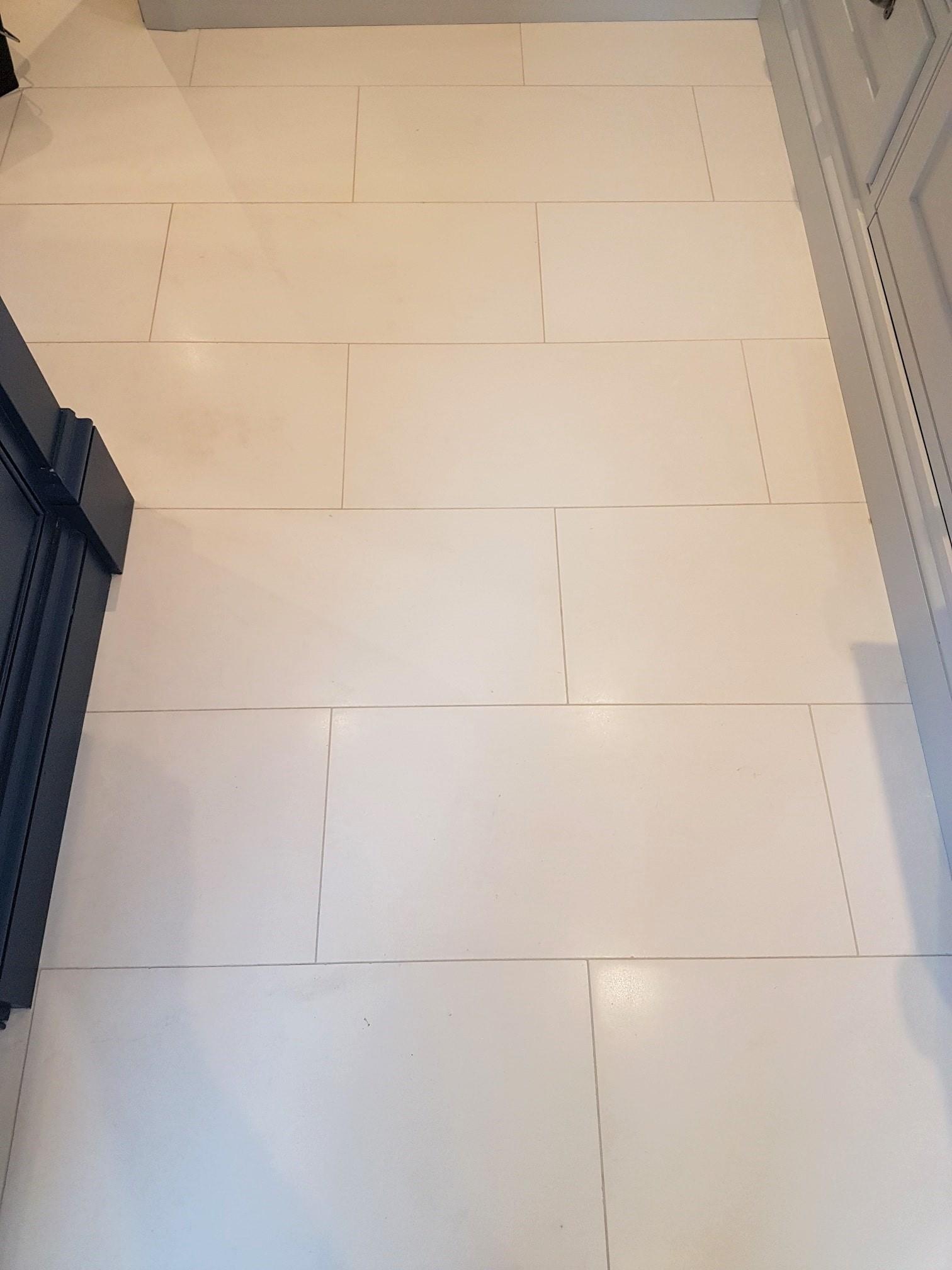 White Moleanos Limestone Floor After Cleaning Harrogate