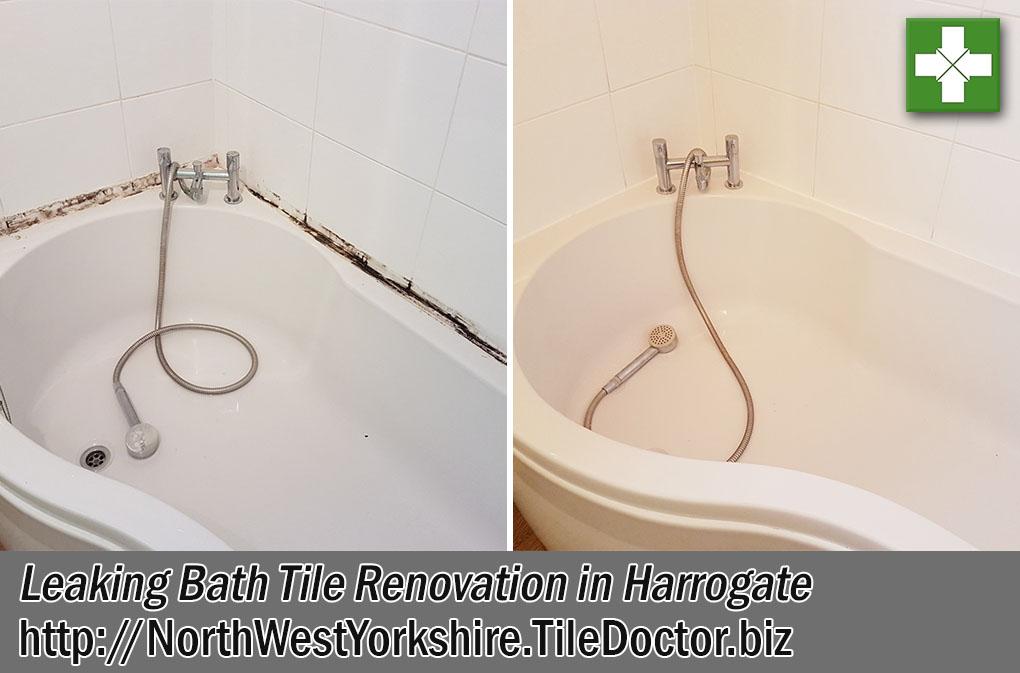 Bath Tile Before After Renovation Harrogate