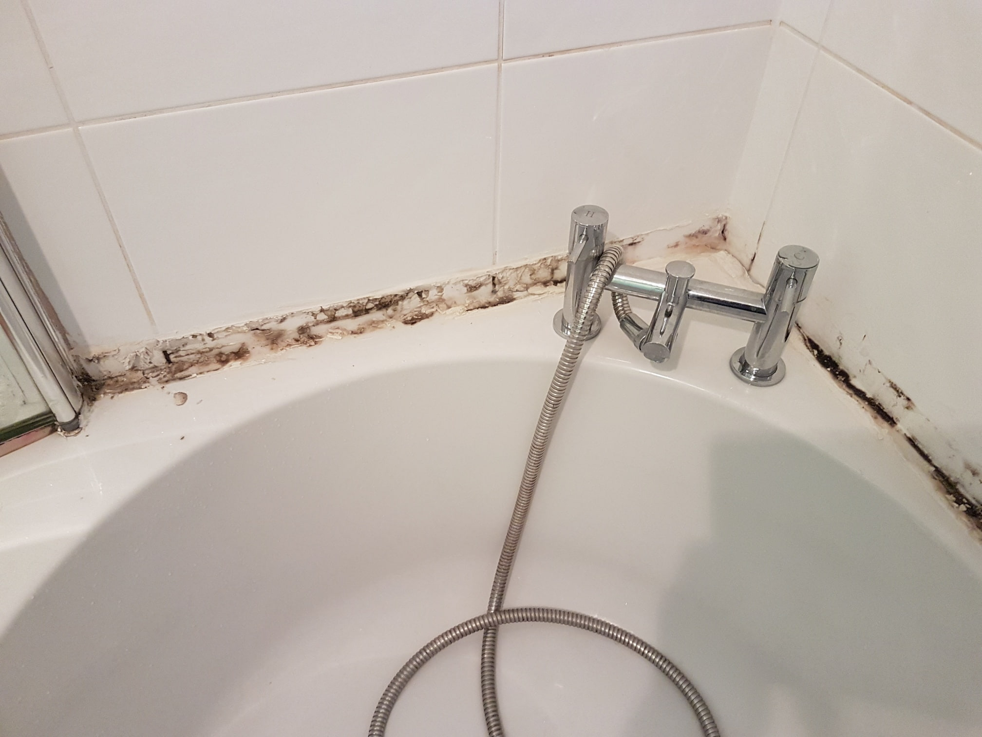 Renovating White Ceramic Tiled Bathroom Harrogate Before