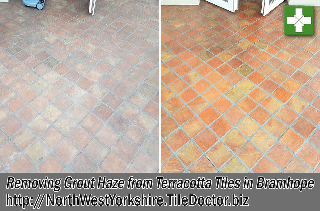 Terracotta Tiled Floor Before After Renovation Bramhope