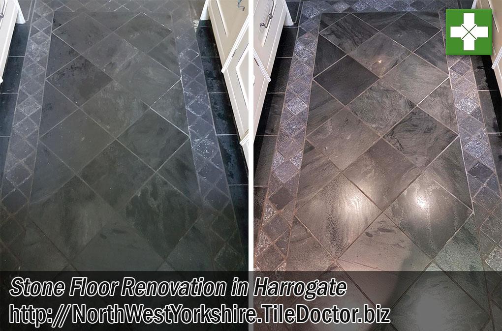 Kitchen Slate Granite Before After Renovation Harrogate