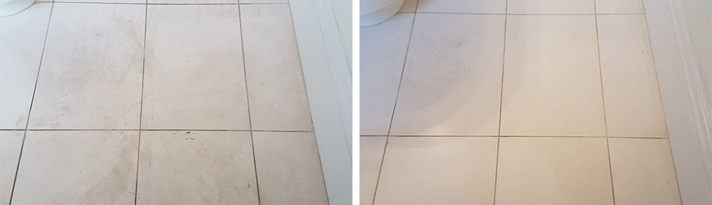 White Moleanos Limestone Kitchen Floor Renovated in Leeds