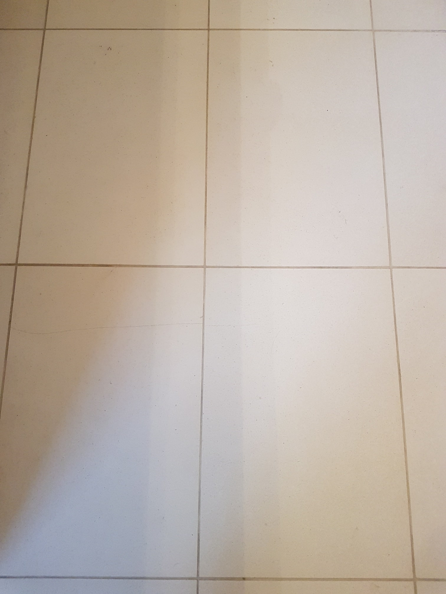 White Moleanos Limestone Kitchen Floor Leeds After Cleaning