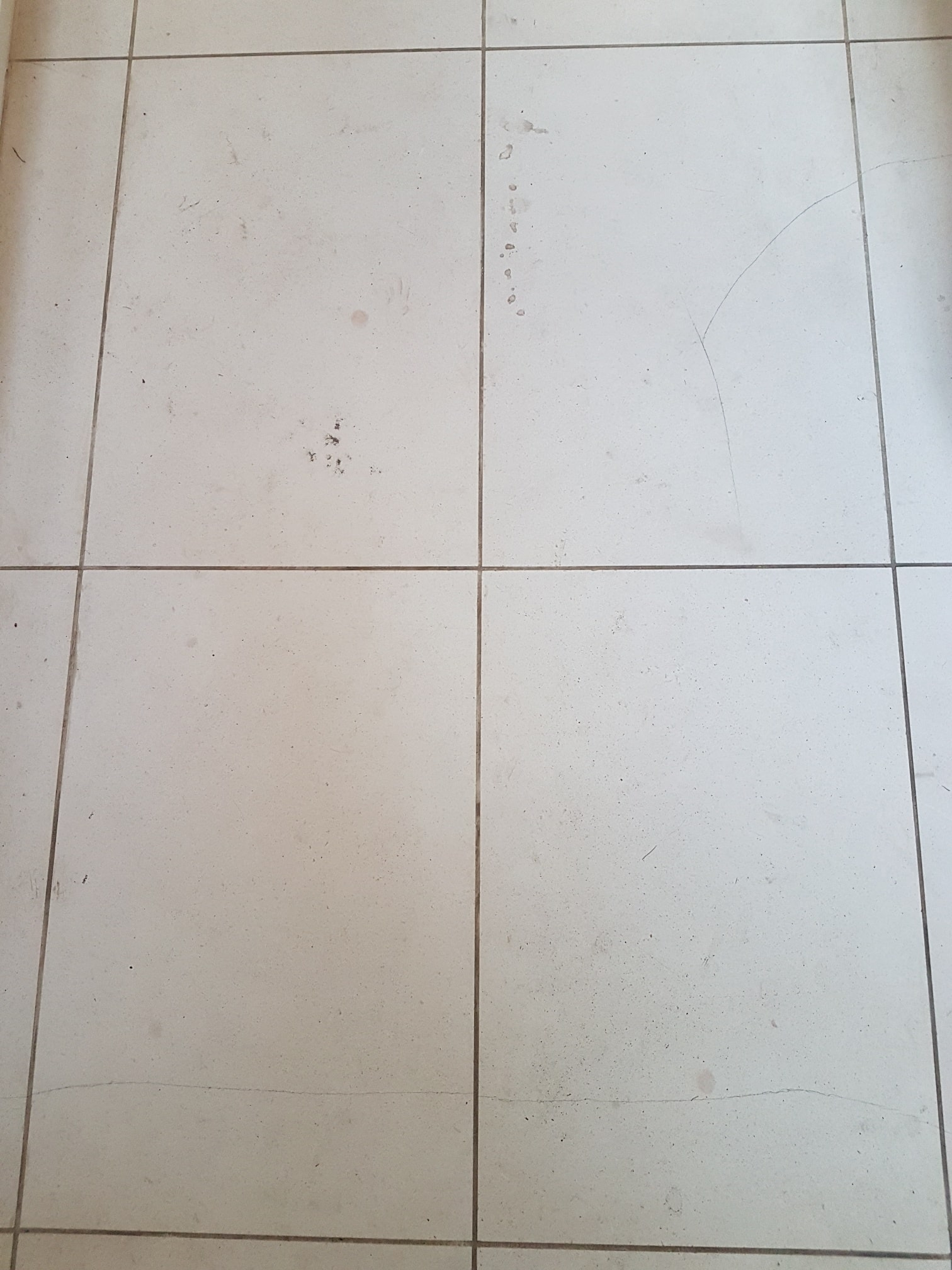 White Moleanos Limestone Kitchen Floor Leeds Before Cleaning