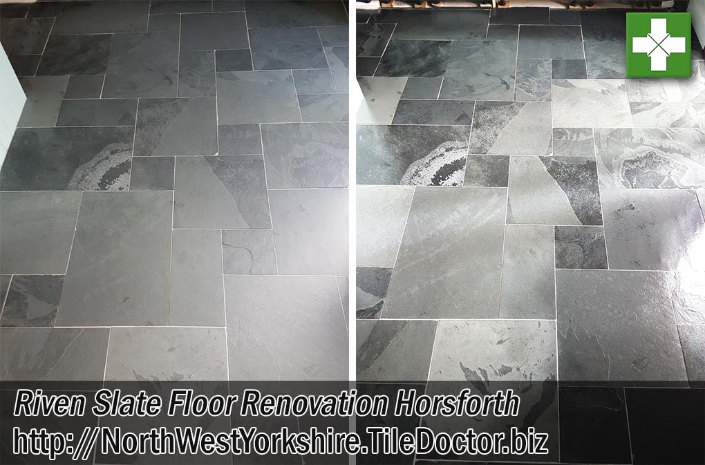 Riven Slate Tiled Floor Renovation Horsforth