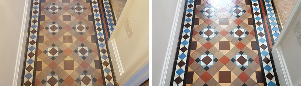 Restoration of a Carpet Covered Victorian Tiled Hallway in Masham