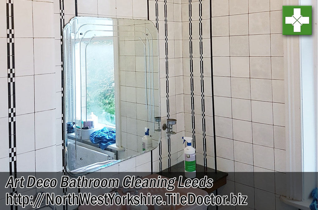 Ceramic Tiled Art Deco Bathroom After Cleaning Leeds