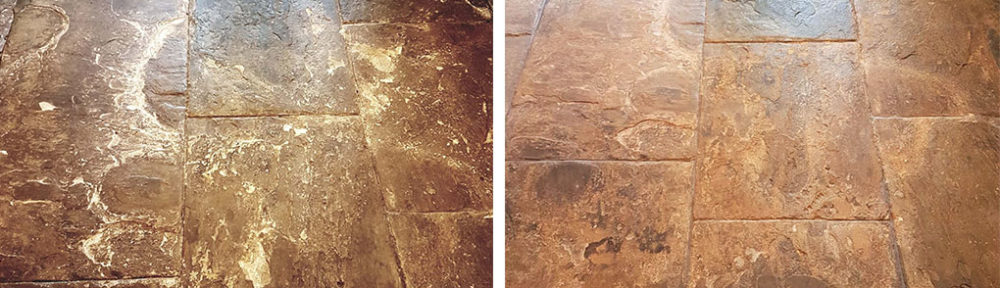 Restoring a Flagstone Tiled Kitchen Floor in Leeds