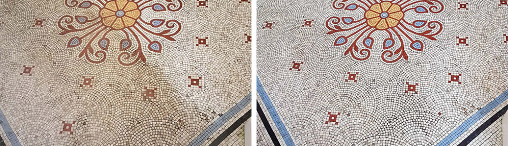 Grade 1 Listed Mosaic Tiled Floor Renovated at Ilkley Manor House