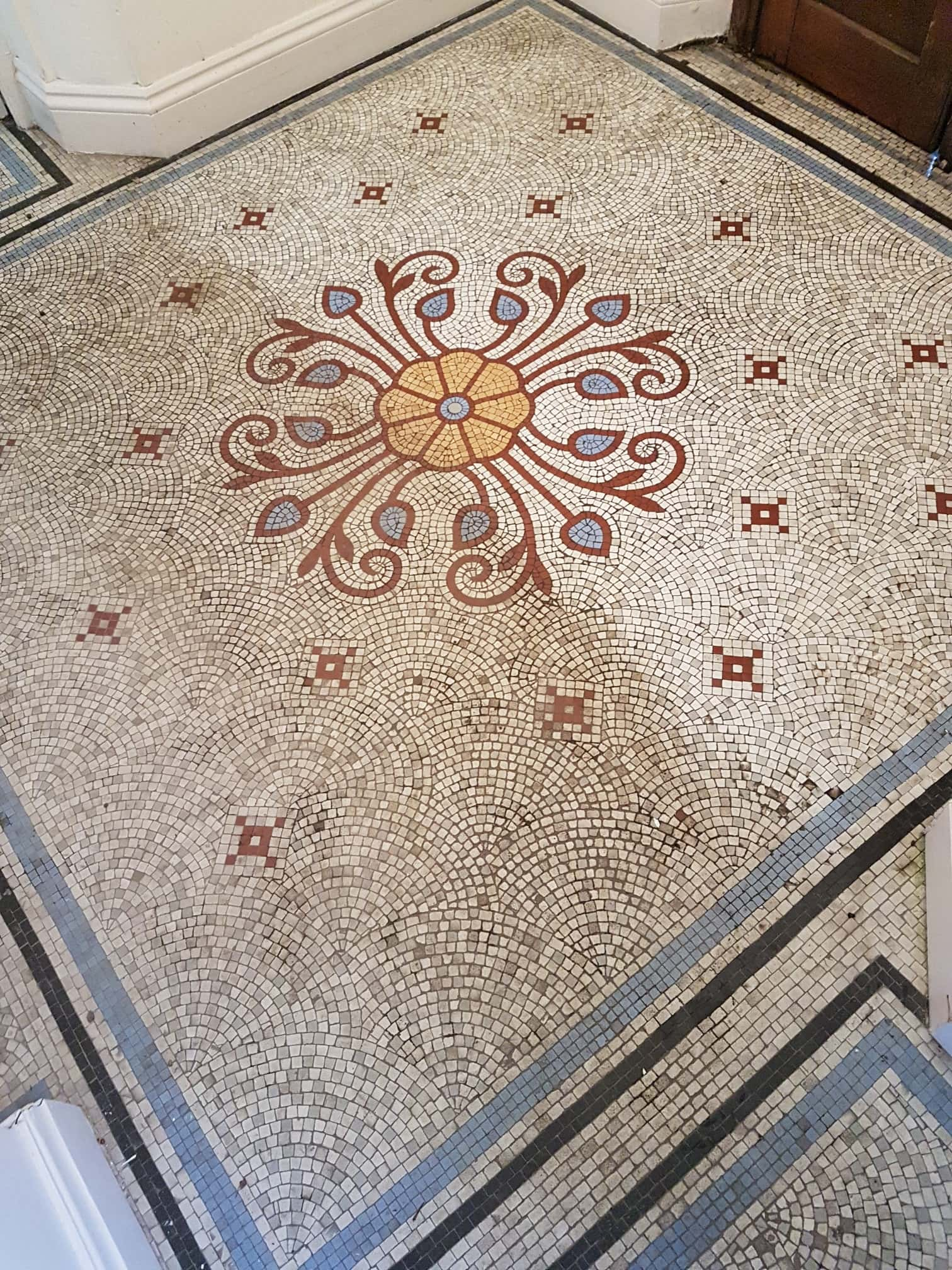 Mosaic Tiled Floor During Renovation Ilkley