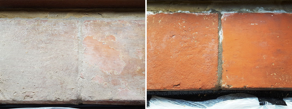 Ceramic Kitchen Floor Tiles and Terracotta Window Sills Restored in Sherburn-in-Elmet