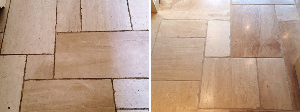 Burnishing and Sealing Works Wonders for Limestone Tiles in Harrogate