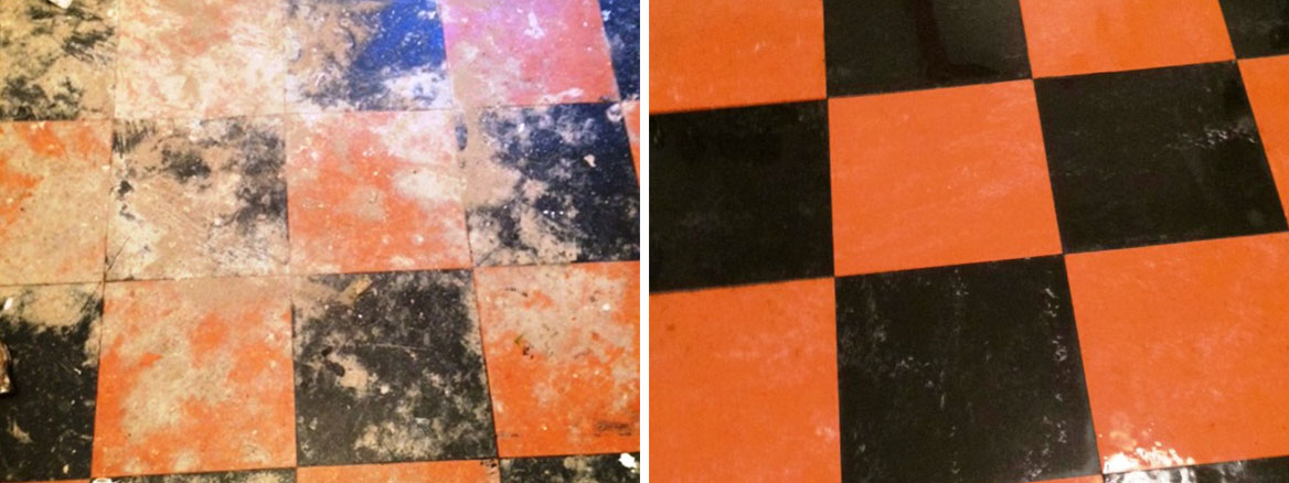 Victorian Design Linoleum Tiles Restored in York