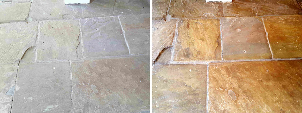 Old Yorkshire Flagstones Revitalised in Haworth Village