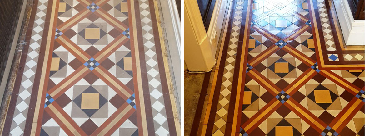 Restoring the Colour and Appearance of a Victorian Tiled Hallway in Hebden