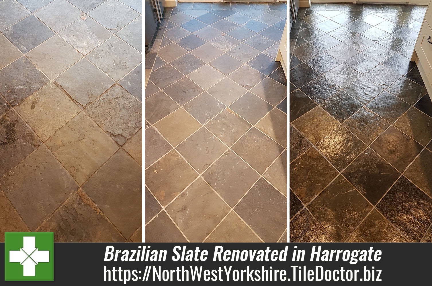 Renovating a Brazilian Slate Floor in a Harrogate Kitchen