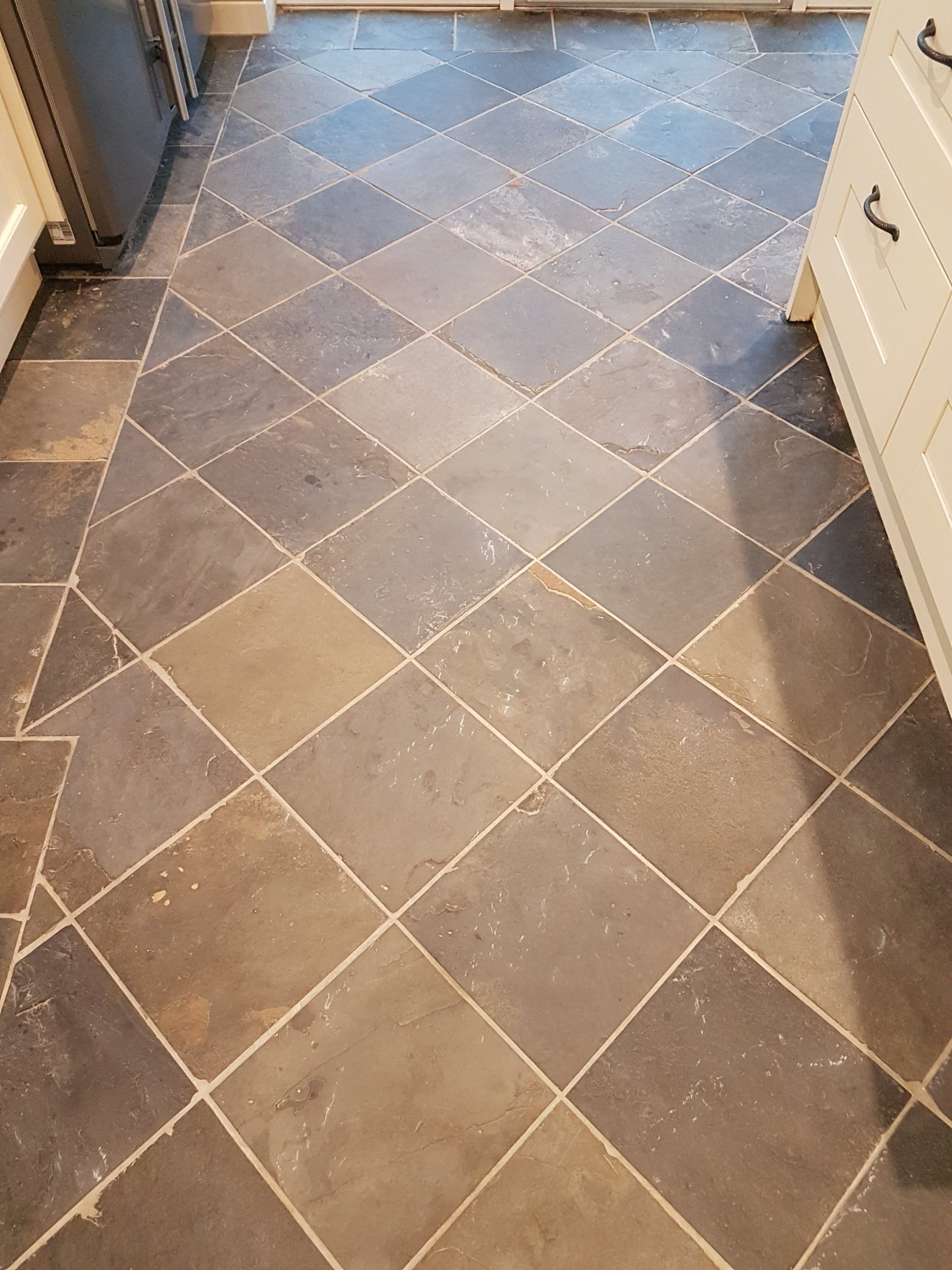 Slate Floor After Cleaning Harrogate Kitchen