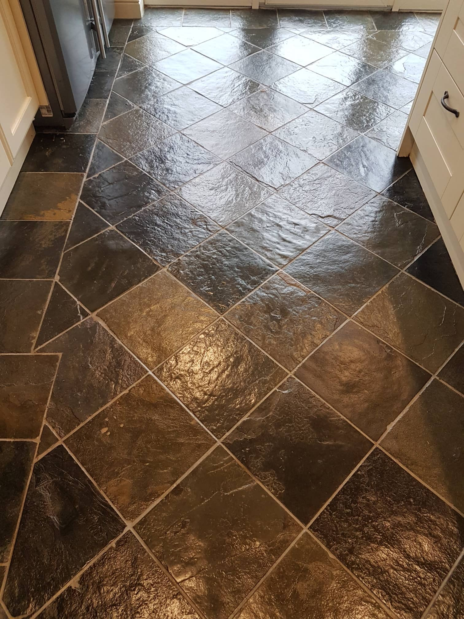 Slate Floor After Sealing Harrogate Kitchen
