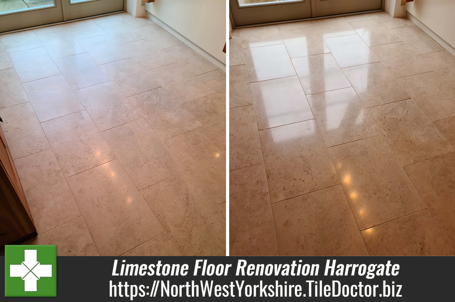 Moleanos Limestone Tiled Kitchen Floor Renovation Harrogate