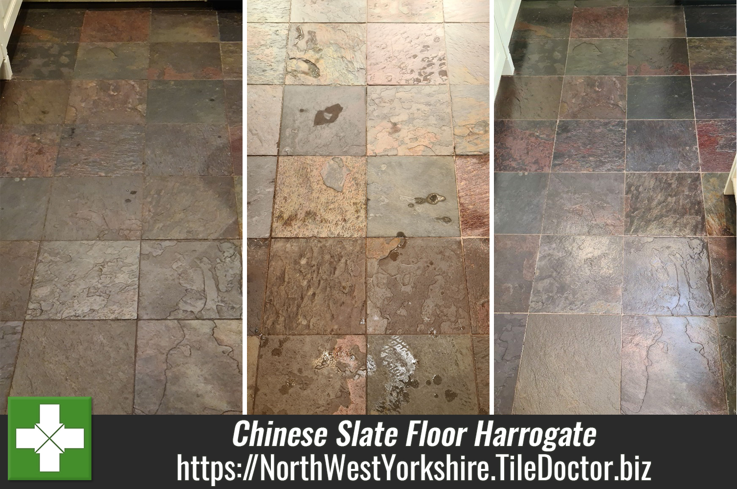 Chinese Slate Floor Revival in Harrogate