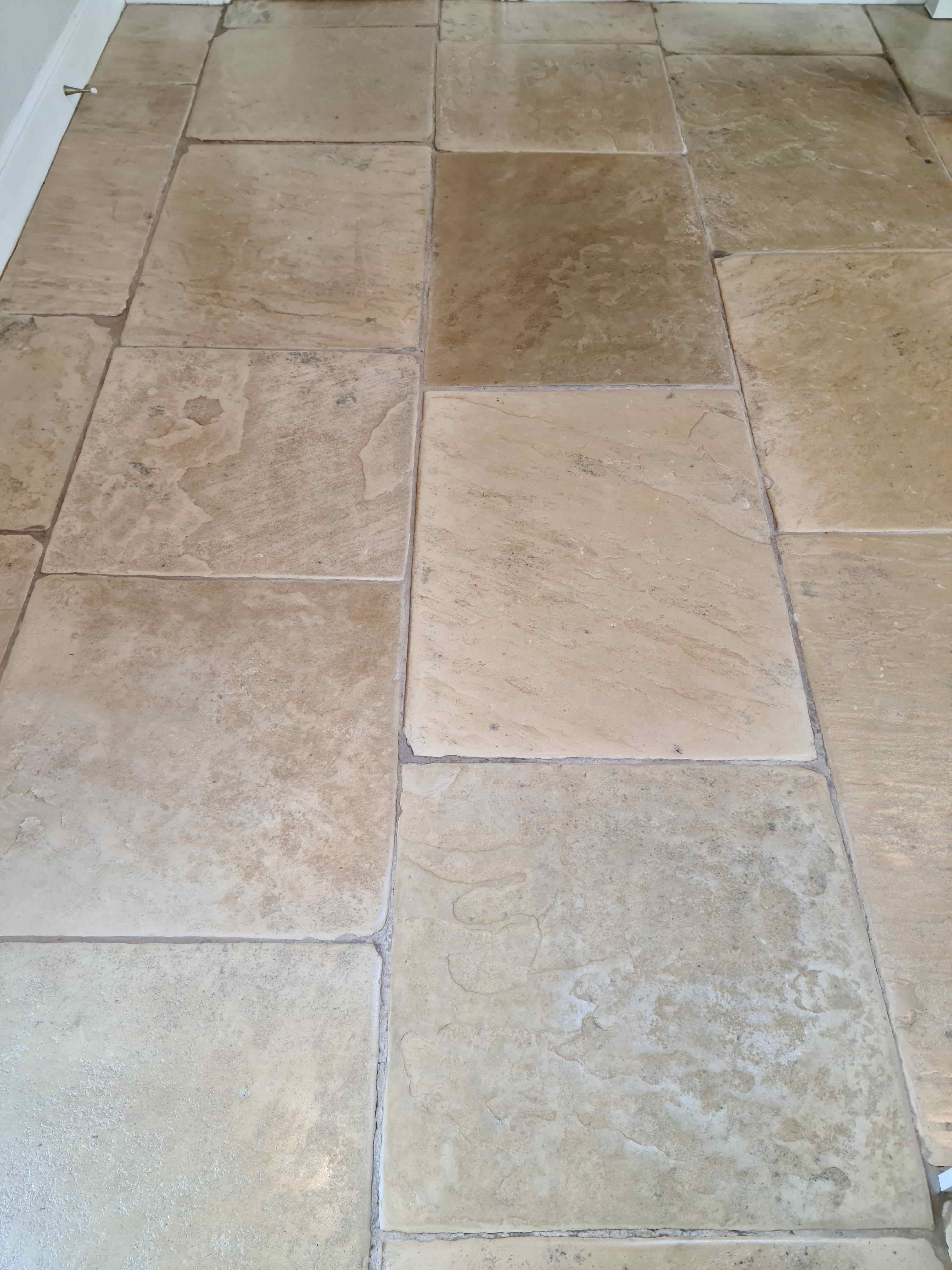 Lapicida Sandstone Floor After Cleaning Ilkley