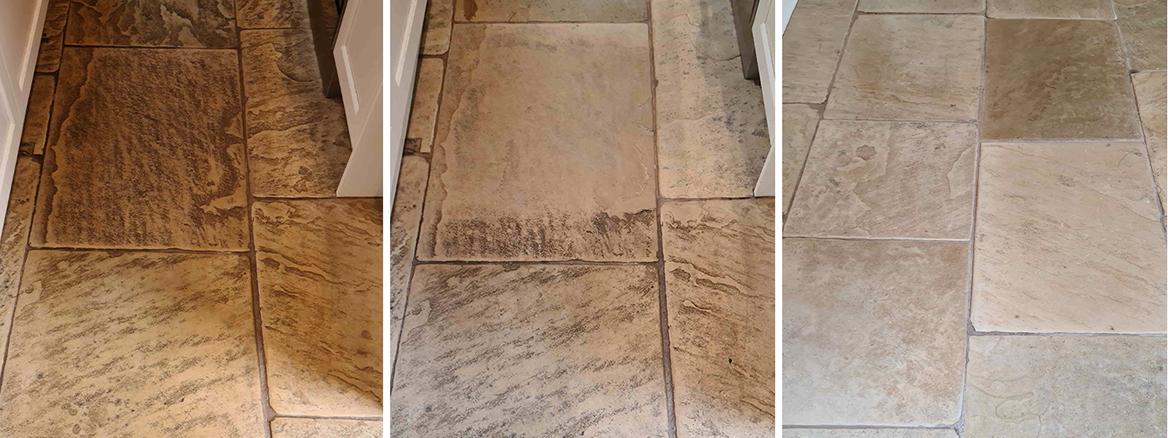 Renovating Lapicida White Sandstone Kitchen Floor in Ilkley
